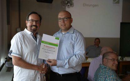 TTC Grün-Gelb und Jürgen Willrich auch vom TT-Regionsverband geehrt!