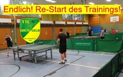 Endlich wieder TT-Training! Re-Start geglückt!