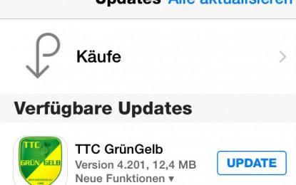 Update der TTC Grün-Gelb App!
