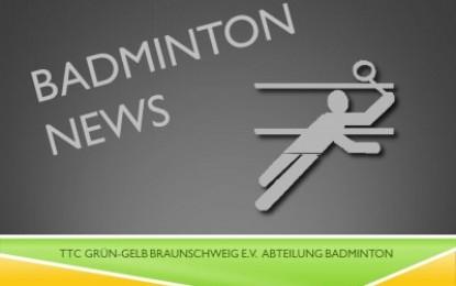 Badminton Saisonabschluss am 21. Juli / Training in den Sommerferien