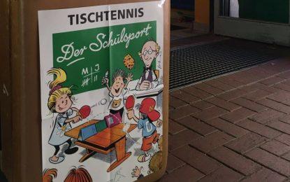 Tischtennis beim Sporttag der GS Lindenberg mit dem TTC Grün-Gelb