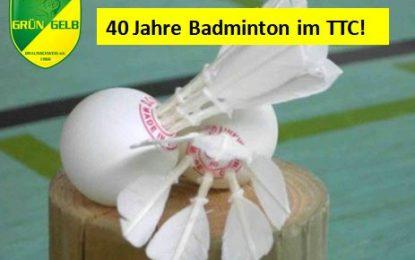 """""""40 Jahre Badminton"""" im TTC Grün-Gelb Braunschweig"""