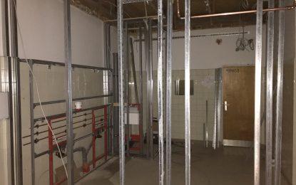 Umbau der Duschen in der Sporthalle GS Lindenberg